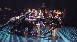 © Licensed to London News Pictures. 14/05/2013. Rambert Dance Company presents new work choreographed by company dancers, at the Queen Elizabeth Hall, London. Picture shows Longing, choreographed by Patricia Okenwa. Photo credit: Tony Nandi/LNPPhoto credit: Tony Nandi/LNP.