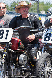 Vintage road racing at New Hampshire Motor Speedway during Laconia Motorcycle Week. Laconia, NH, USA. June 14, 2015.  Photography ©2015 Michael Lichter.