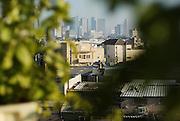 Israel, Tel Aviv, elevated view of Neve Tzedek established 1887 and was the first Jewish settlement outside of Jaffa. In 1909 Neve Tzedek neighbourhood was incorporated into Tel Aviv