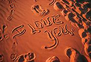 I LOVE YOU, Coral Sand Dunes State Park, Utah, USA