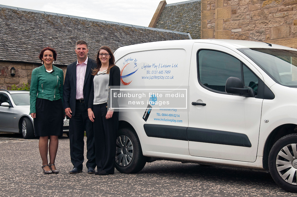Youth Employment Minister Angela Constance visited Edinburgh company Juniper Play which supplies equipment for children's playgrounds to hear about its graduate recruitment on the day labour market statistics are published. The Minister met Kelly Kirkhope, a recent graduate from Stirling University who has a year's placement with Juniper Play under the ScotGrad scheme, and Juniper Play managaing director Paul Hoenigmann. Ger Harley | StockPix.EU