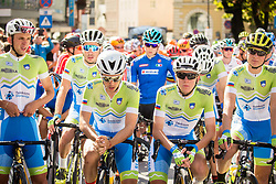 Ziga Jerman, Nik Cemazar, Ziga Horvat, Tadej Pogacar and Jaka Primozic of Slovenia during the Men Under 23 Road Race 179.9km Race from Kufstein to Innsbruck 582m at the 91st UCI Road World Championships 2018 / RR / RWC / on September 28, 2018 in Innsbruck, Austria.  Photo by Vid Ponikvar / Sportida