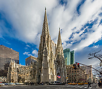 NEW YORK CITY- MARCH 25, 2018 : St. Patrick's Cathedral one of  main one of the main Manhattan Landmarks