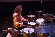 Brooklyn, NY, 26 September 2013. Drummer Jim White playing in Jem Cohen's We Have an Anchor, part of the Next Wave Festival at the Brooklyn Academy of Music (BAM).