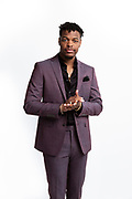Professional basketball player Dennis Smith Jr, photographed for Calvin Klein, 2019.