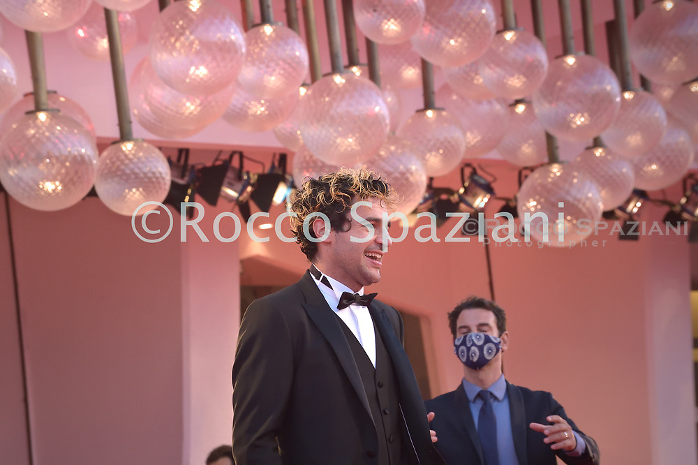 """VENICE, ITALY - SEPTEMBER 06:Christopher Abbott walks the red carpet ahead of the movie """"The World To Come"""" at the 77th Venice Film Festival on September 06, 2020 in Venice, Italy.<br /> (Photo by Rocco Spaziani)"""