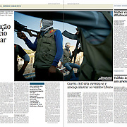 """Tearsheet of """"Syria: the kurdish revolution"""" published in Expresso"""