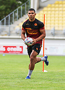 Picture by Laurent Selles/Catalans Dragons/via SWpix.com - 10/07/2020 Rugby League Betfred Super League 2020<br /> Back in training. Catalans Dragons' David Mead back in training today at Stade Gilbert Brutus, Perpignan - France after the long lay off due to Coronavirus Covid 19 Pandemic