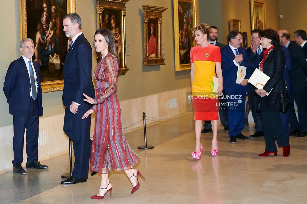 King Felipe VI of Spain, Queen Letizia of Spain, Agatha Ruiz de la Prada attends the Delivery of the National Culture Awards 2017 at The Prado Museum on March 19, 2019 in Madrid, Spain