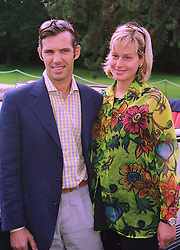 MR & MRS PAUL BELMONDO he was a close friend of princess Stephanie of Monaco and son of French actor Jean-Paul Belmondo, at a reception in Paris on 6th September 1998.MJR 50