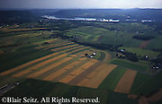 Southcentral Pennsylvania, Aerial Photographs, Farmlands, Mixed Cultivation and Contour Farming, Susquehanna River, Dauphin Co., PA