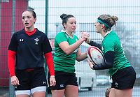 CELE- Ireland women's Alison Miller celebrates scoring her sides third try<br /> Photographer Ashley Crowden/CameraSport<br /> <br /> International Rugby Union Friendly - Wales Women v Ireland Women - Sunday 21st January 2018 - CCB Centre for Sporting Excellence - Ystrad Mynach<br /> <br /> World Copyright © 2018 CameraSport. All rights reserved. 43 Linden Ave. Countesthorpe. Leicester. England. LE8 5PG - Tel: +44 (0) 116 277 4147 - admin@camerasport.com - www.camerasport.com