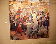'Extremadura. El Mercado' 1917 photo reproduction Joaquin Sorolla Plasencia, in the  museum, Caceres, Extremadura, Spain