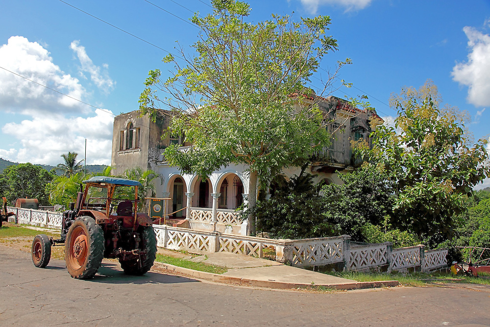 Tractor in San Miguel de los Banos, Matanzas, Cuba.