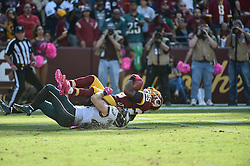 during the game at  FedEx Field on Oct 16, 2016 in Landover, Md. (Photo by John Geliebter/Philadelphia Eagles)