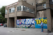 Homes are fenced off and boarded up at Trellick Tower in preparation for the upcoming Notting Hill Carnival on August 22nd 2019 in London, England, United Kingdom. An expected 1 million revellers are expected to visit Carnival on the weekend, so many owners have decided to protect their properties as a precaution.