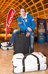 28.01.2014,  Marriott, Wien, AUT, Sochi 2014, Einkleidung OeOC, im Bild Lukas Klapfer (Nordische Kombination, AUT) // Lukas Klapfer (Nordic Combined, AUT) during the outfitting of the Austrian National Olympic Committee for Sochi 2014 at the  Marriott in Vienna, Austria on 2014/01/28. EXPA Pictures © 2014, PhotoCredit: EXPA/ JFK