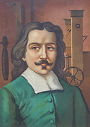 "Otto von Guericke [Otto de Querike] (1602 – 1686) was a German scientist, inventor, and politician. His pioneering scientific work, the development of experimental methods and repeatable demonstrations on the physics of the vacuum, atmospheric pressure, electrostatic repulsion, his advocacy for the reality of ""action at a distance"" and of ""absolute space"" were remarkable contributions for the advancement of the Scientific Revolution. From the book La ciencia y sus hombres : vidas de los sabios ilustres desde la antigüedad hasta el siglo XIX T. 3  [Science and its men: lives of the illustrious sages from antiquity to the 19th century Vol 3] By by Figuier, Louis, (1819-1894); Casabó y Pagés, Pelegrín, n. 1831 Published in Barcelona by D. Jaime Seix, editor , 1879 (Imprenta de Baseda y Giró)"