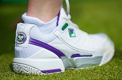 LONDON, ENGLAND - Wednesday, June 24, 2009: A ball girl's shoe during a Gentlemen's Singles 2nd Round match on day three of the Wimbledon Lawn Tennis Championships at the All England Lawn Tennis and Croquet Club. (Pic by David Rawcliffe/Propaganda)