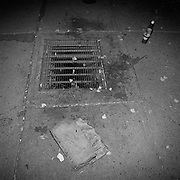 A homeless persons pants and drinks left by a heated exhaust vent for an office tower in Toronto's Financial District..(Credit Image: © Louie Palu/ZUMA Press)