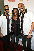 l to r: Bilal, Jael Gadsde and Common at Common's Start the Show n' Bowl benefiting The Common Ground Foundation held at Hotel Sax on September 26, 2008 in Chicago, IL