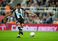 Football - 2021 / 2022  EFL Carabao Cup - Round Two - Newcastle United vs Burnley - St Jame's Park - Wednesday 25th August 2021<br /> <br /> Joelinton of Newcastle United scores a penalty in the penalty shootout<br /> <br /> Credit: COLORSPORT/Bruce White