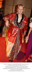 Fashion designer VIVIENNE WESTWOOD, at an exhibition in London on 30th March 2004.PTA 192
