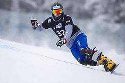 Daniele Bagozza (ITA) during Final Run at Parallel Giant Slalom at FIS Snowboard World Cup Rogla 2019, on January 19, 2019 at Course Jasa, Rogla, Slovenia. Photo byJurij Vodusek / Sportida