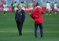 Rugby Union - 2021 British & Irish Lions Tour of South Africa - Second Test: South Africa vs British & Irish Lions<br /> <br /> Lions head coach Warren Gatland, with kicking coach Neil Jenkins before kick-off, at Cape Town Stadium, Cape Town.<br /> <br /> COLORSPORT / JOHAN ORTON