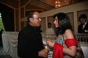 Anshita Madhoki and Dr. Nish Joshi, Eleventh Annual Gala dinner for the Asian Business Awards 2007. Hosted by Eatern Eye and Ethnic Media Group. Hilton Hotel. Park Lane. 8 May 2007.  -DO NOT ARCHIVE-© Copyright Photograph by Dafydd Jones. 248 Clapham Rd. London SW9 0PZ. Tel 0207 820 0771. www.dafjones.com.