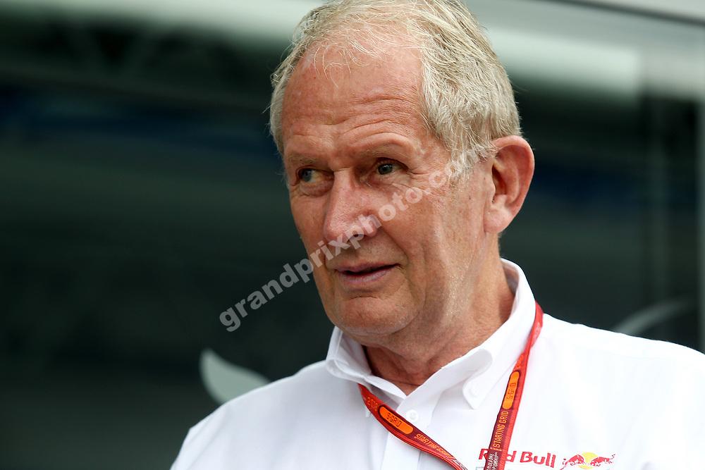 Consultant Dr Helmut Marko (Red Bull) before the 2016 German Grand Prix at Hockenheim. Photo: Grand Prix Photo