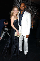 ADAM AFRIYIE MP and his wife TRACY-JANE at the Conservative Party's Black & White Ball held at Old Billingsgate, 16 Lower Thames Street, London EC3 on 8th February 2006.<br /><br />NON EXCLUSIVE - WORLD RIGHTS