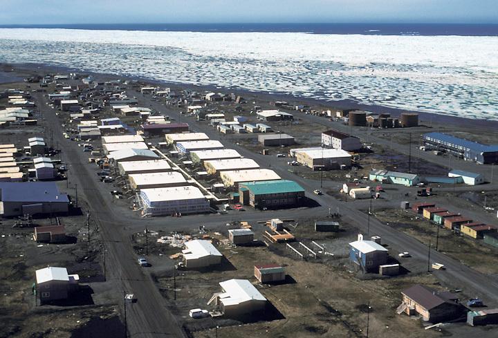 The summer ice pack near the Iñupiat village of Barrow, Alaska