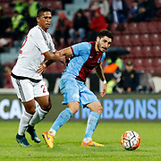 Trabzonspor's Ozer Hurmaci (R) during their Turkish Super League match Trabzonspor between Gaziantepspor at the Avni Aker Stadium at Trabzon Turkey on Wednesday, 28 October 2015. Photo by Aykut AKICI/TURKPIX