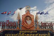Picture of Norodom Sihamoni, the King of the Kingdom of Cambodia, in Phnom Penh, Cambodia. PHOTO TIAGO MIRANDA