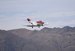 September 13, 2018 - Reno, Nevada, U.S. - RENO, NV - SEPTEMBER 13: The latest Honda HA-420 private jet prepares to land at the 55th National Championship Air Races the only closed course pylon racing event in the world, and is the world's longest running air race held in Reno, NV. (Photos by Lyle Setter/Icon Sportswire) (Credit Image: © Lyle Setter/Icon SMI via ZUMA Press)