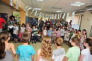 Israeli Preschool celebration with parents