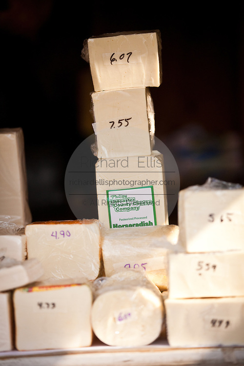 Amish made cheeze during the Annual Mud Sale to support the Fire Department  in Gordonville, PA.