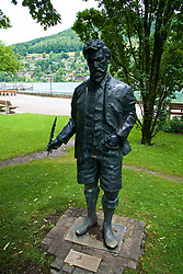 ROTTACH-EGERN, GERMANY - Wednesday, July 26, 2017: A statue of Ludwig Ganghofer in Rottach-Egern, the base for Liverpool's preseason training camp in Germany. (Pic by David Rawcliffe/Propaganda)