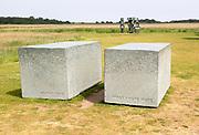 'Fragments of Ezra Pound' sculpture by Alexander Polzin 2016, Snape Maltings, Suffolk, England, UK