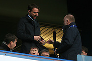 England Manager Gareth Southgate takes his seat at Stamford Bridge before kick off. The Emirates FA Cup 4th round match, Chelsea v Brentford at Stamford Bridge in London on Saturday 28th January 2017.<br /> pic by Steffan Bowen, Andrew Orchard sports photography.