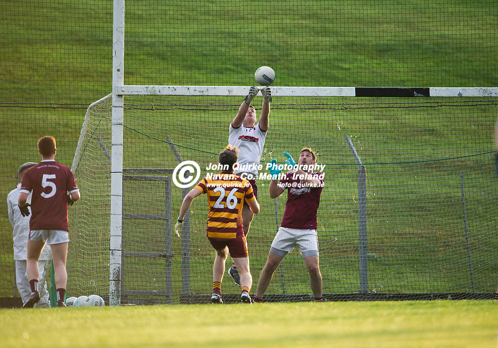 27-07-21. Carnaross v St. Vincent's Tailteann Cup Final 2020.<br /> St. Vincent's goalkeeper Evan Connor fisting the ball out of the danger area against Carnaross in the Meath Tailteann Cup Final 2020.<br /> Photo: John Quirke / www.quirke.ie<br /> ©John Quirke Photography, 16 Proudstown Road, Navan. Co. Meath. (info@quirke.ie / 046-9028461 / 087-2579454).