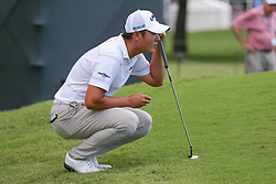 May 25, 2018 - Forth Worth, TX, U.S. - FORT WORTH, TX - MAY 25:  Danny Lee of New Zealand lines up his putt on #6 during the second round of the Fort Worth Invitational on May 25, 2018 at Colonial Country Club in Fort Worth, TX. (Photo by Andrew Dieb/Icon Sportswire) (Credit Image: © Andrew Dieb/Icon SMI via ZUMA Press)