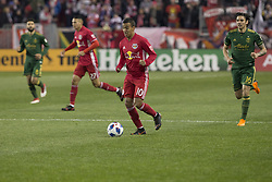 March 10, 2018 - Harrison, New Jersey, United States - Alejandro Kaku Romero Gamarro (10) of Red Bulls controls ball during regular MLS game against Portland Timbers at Red Bull Arena Red Bulls won 4 - 0 (Credit Image: © Lev Radin/Pacific Press via ZUMA Wire)