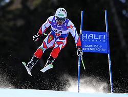 10.02.2011, Kandahar, Garmisch Partenkirchen, GER, FIS Alpin Ski WM 2011, GAP, Herren Abfahrtstraining, im Bild Ondrej Bank (CZE) takes to the air competing in the first men's downhill training run on the Kandahar race piste at the 2011 Alpine skiing World Championships, EXPA Pictures © 2011, PhotoCredit: EXPA/ M. Gunn