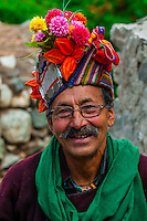 "Brokpa tribe in the remote Dahanu Valley. The valley is known as the ""Land of the Aryans"" as the people there are considered the purest descendants of the ancient Indo-Europeans; Ladakh; Jammu and Kashmir State; India."