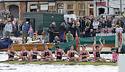 Henley, GREAT BRITAIN,  Abingdon School,  celebrate winning the Princess Elizabeth Challenge Cup at 2012 Henley Royal Regatta. 2012 Henley Royal Regatta. ..Sunday  14:59:35  01/07/2012. [Mandatory Credit, Peter Spurrier/Intersport-images]...Rowing Courses, Henley Reach, Henley, ENGLAND . HRR.