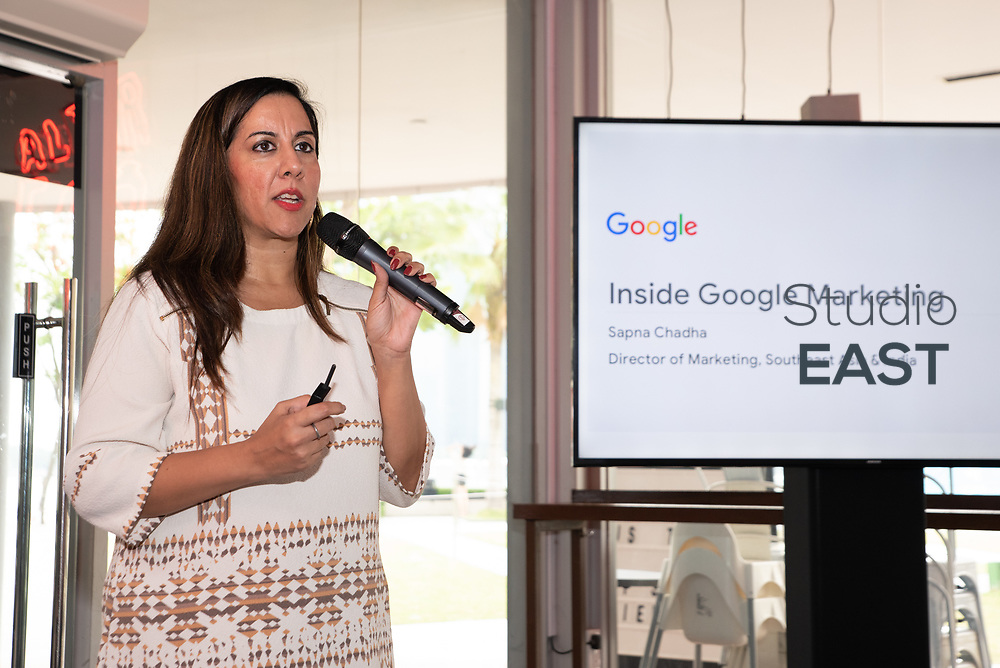 Brand case study: Google by Sapna Chadha, Marketing Director SE Asia & India, Google, during Asia's Top 1000 Brands in Esplanade, Singapore, Singapore, on 6 September 2018. Photo by Steven Lui/Studio EAST