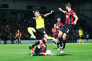 Burton Albion forward Nathan Broadhead (9) avoids a tackle during the EFL Cup match between Burton Albion and Bournemouth at the Pirelli Stadium, Burton upon Trent, England on 25 September 2019.
