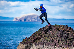 18MAY21 Stevie Boyle jumps, Matt out with Mollie Hughes and Stevie Boyle, Coasteering with Ocean Vertical at Dunbar.